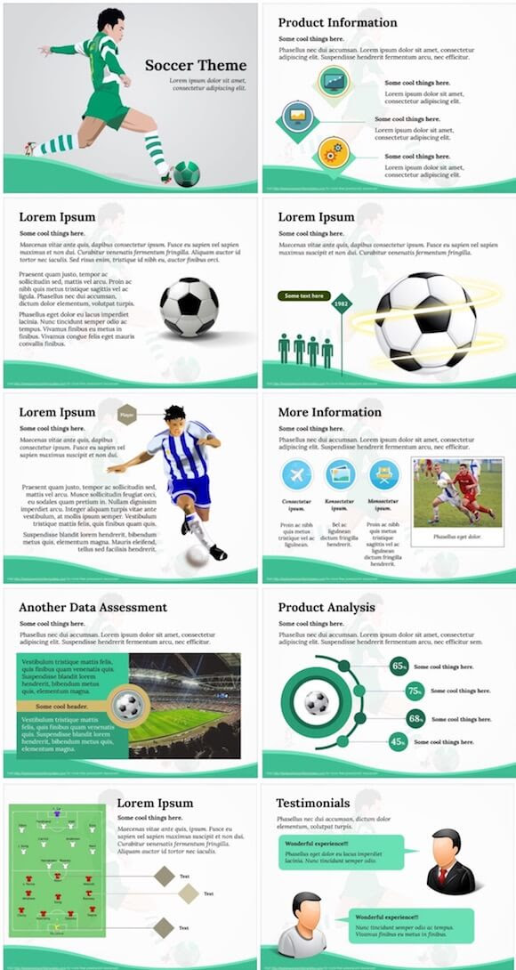 Soccer Powerpoint Template Free