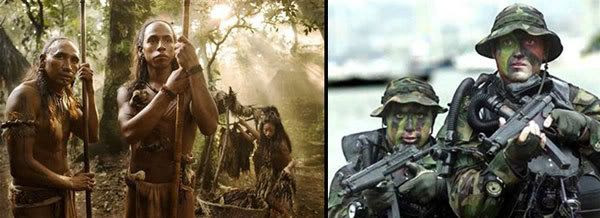 The Question of the Year: Who would win in a battle, the Indians or the commandos?  Hmmm... =)