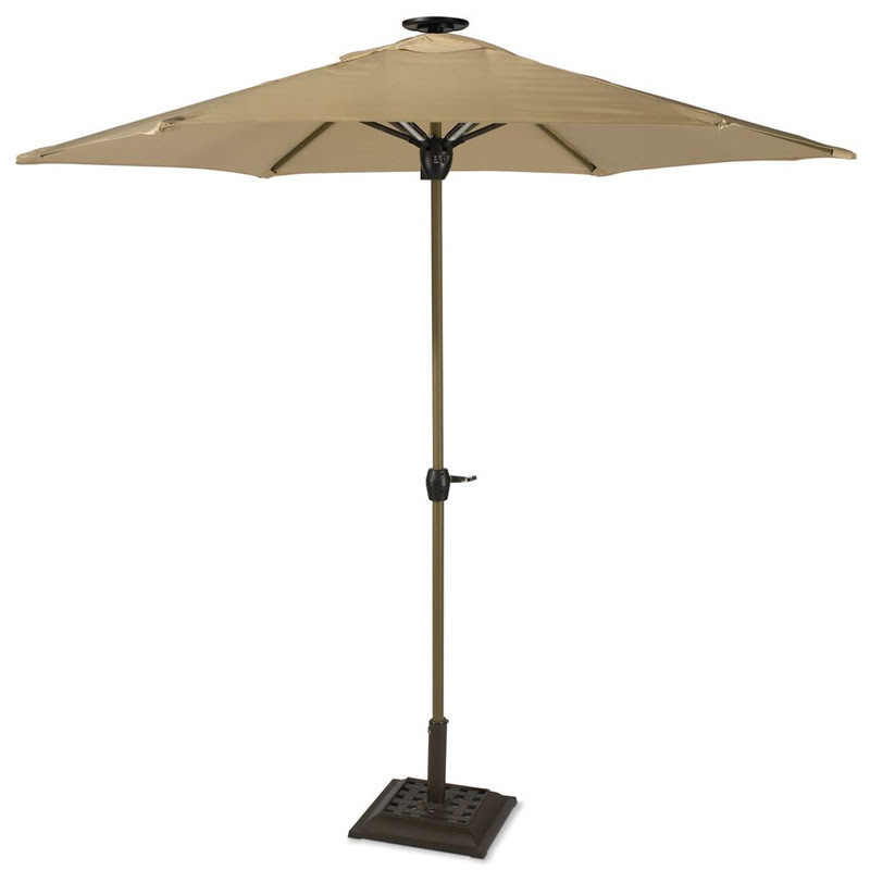 Solar-Powered Lighted Patio Umbrella - The Green Head