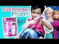 Bermain Telephone Mainan Pink Frozen Elsa Anna - Playing a toy phone - Telefon berbunyi nada-nada