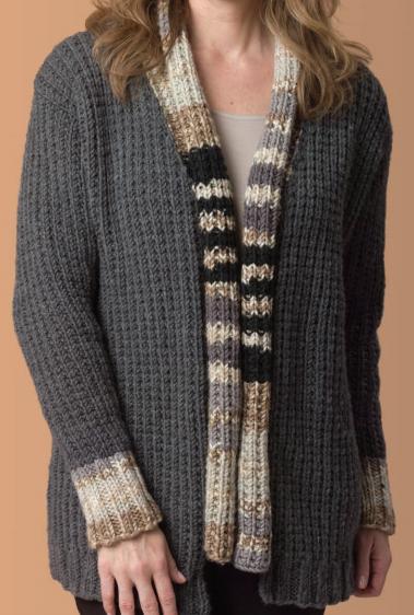 Free easy knit pattern cardigan sweater yarrawonga