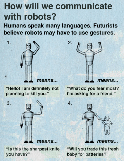 How Will We Communicate With Robots?