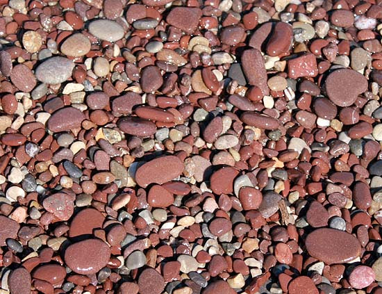 Pebbles on the seashore of Mallorca