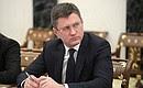 Министр энергетики Александр Новак насовещании счленами Правительства.