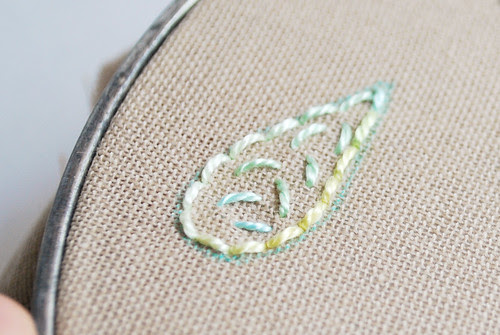 Puffed Satin Stitch base