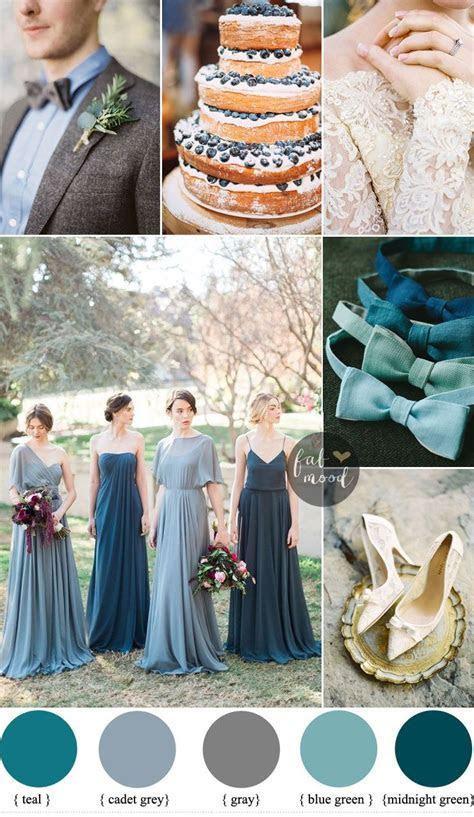 Different shades of blue green Wedding { Midnight Green