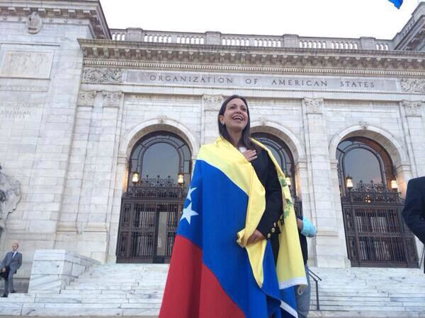 Resultado de imagen para CORINA MACHADO EN LA OEA