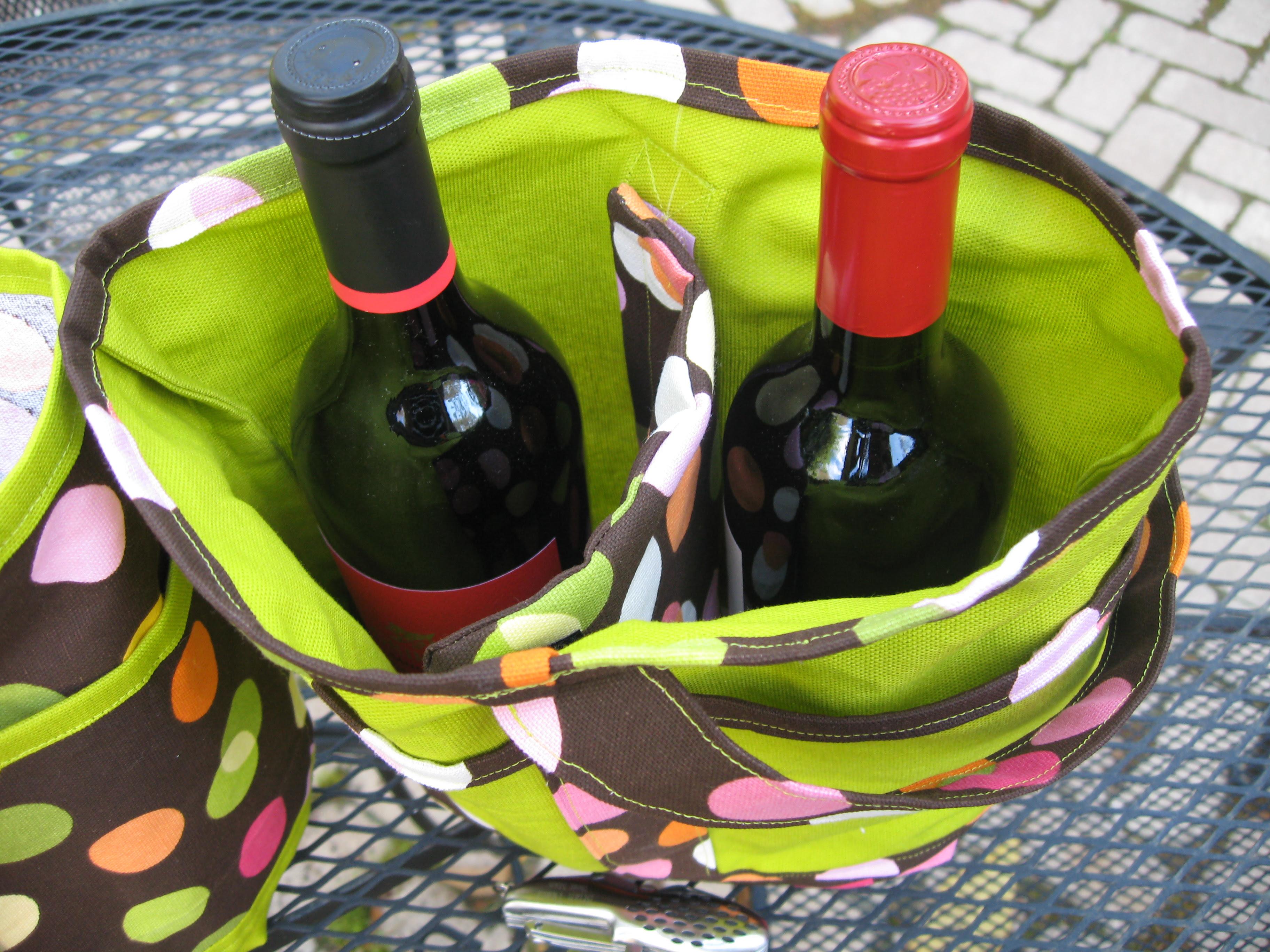 Sewing Pattern Bottle Bag