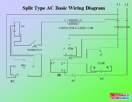 wiring diagram of split type ac  home wiring diagram
