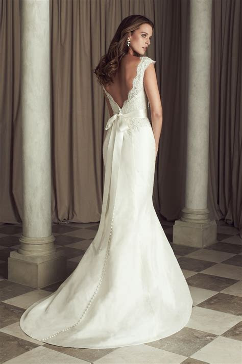 Paloma Re embroidered Lace and Silk Dupioni Wedding Dress