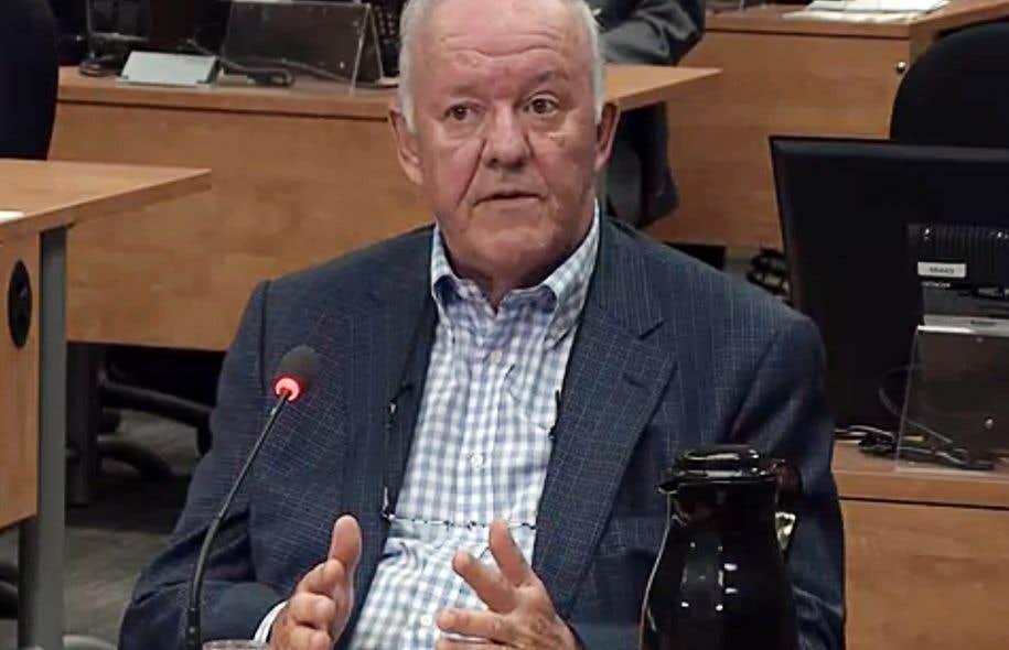 Marc-Yvan Côté, ancien ministre québécois des Transports, lors de la commission Charbonneau