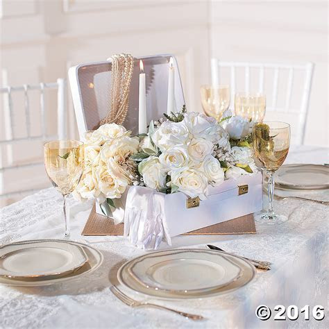 White Suitcase Centerpiece Party Supplies Canada   Open A