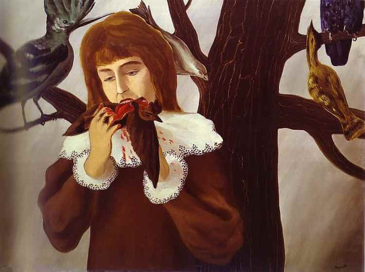Young Girl Eating a Bird, 1927 by Rene Magritte