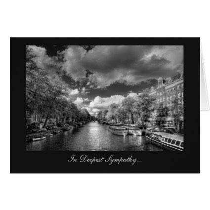 Wolvenstraat / Singel Canal - In Deepest Sympathy Greeting Card