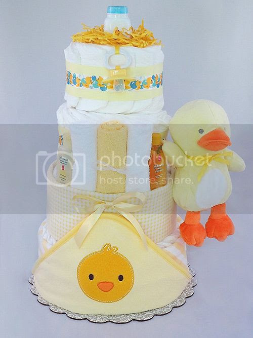 My Little Ducky Diaper Cake
