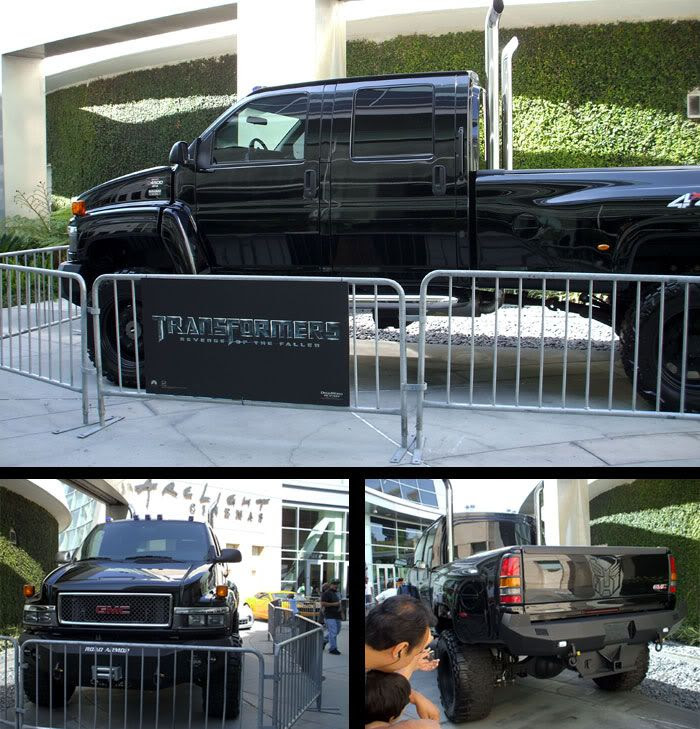 The GMC Topkick truck that represents Ironhide in TRANSFORMERS 2.
