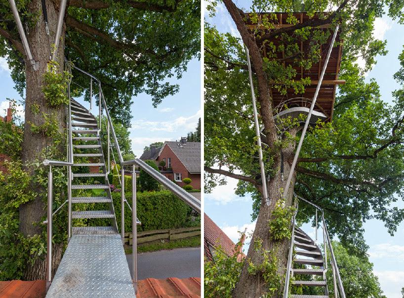 baumraum treehouse halle designboom
