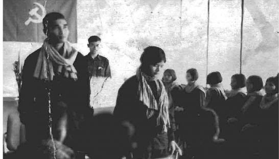 One of the many forced weddings that took place under the Khmer Rouge