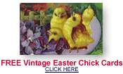 free vintage greeting cards with Easter chicks