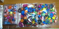 Colorful wire wrap earrings using wooden beads