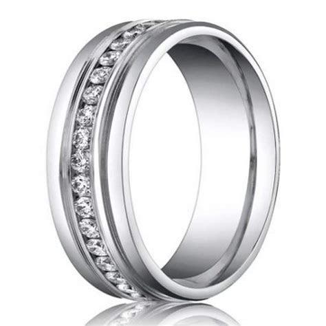6mm Benchmark Palladium Men?s Diamond Eternity Wedding