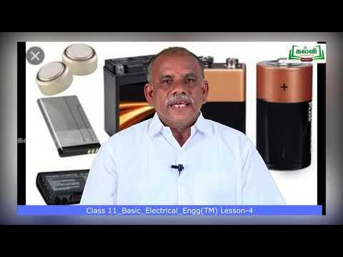 11th Basic Electrical Engineering மின் கலங்கள் அலகு 4 பகுதி 1 Kalvi TV