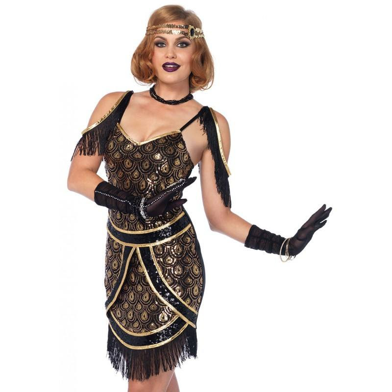 1920's flapper speakeasy dress gatsby costume – disguises