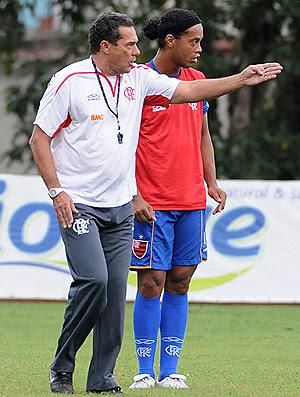 Luxemburgo ronaldinho gaúcho Flamengo (Foto: Alexandre Vidal/Fla Imagem)