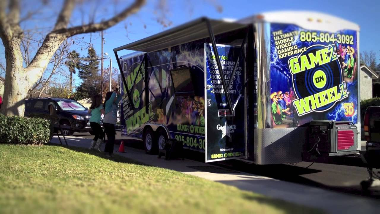 Mobile Gaming Truck For Birthday Parties
