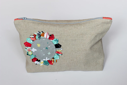 Mini Dresden Zipper Pouch by Jeni Baker