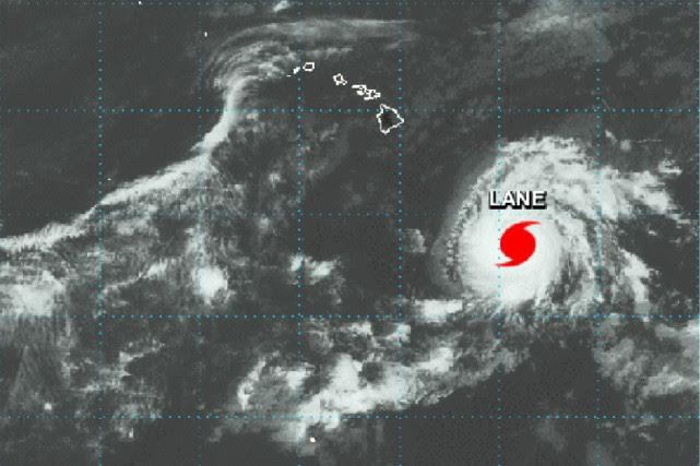 Image satellite de l'ourage Lane prise lundi.... (PHOTO AP/NASA)
