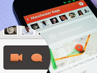 Custom icons user interface design Android app