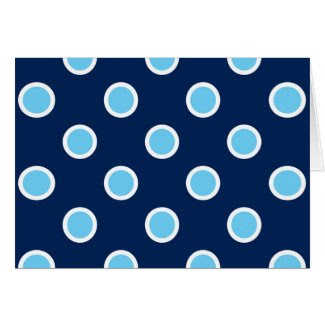 Sky Blue Polka Dots on Navy Thank You Card