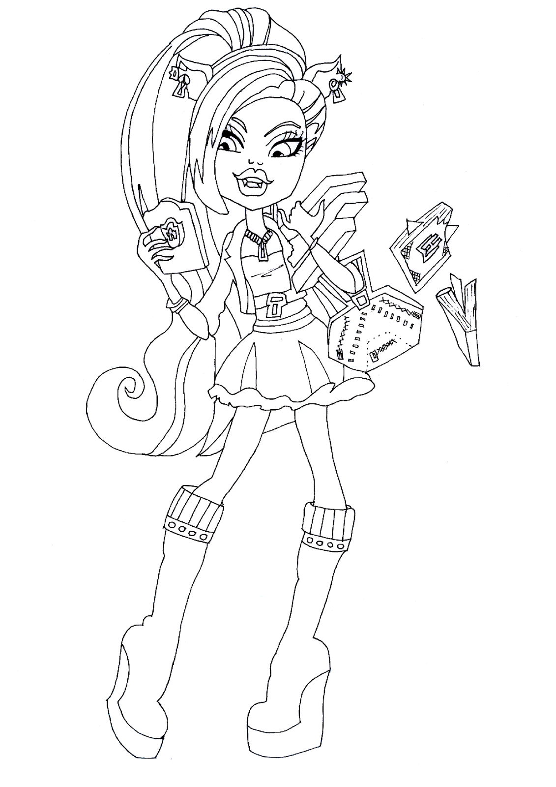 Monster High Clawdeen Wolf Drawing at GetDrawings | Free ...