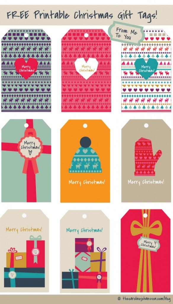 Freebie: Printable Christmas Gift Tags | thecarolinejohansson.com
