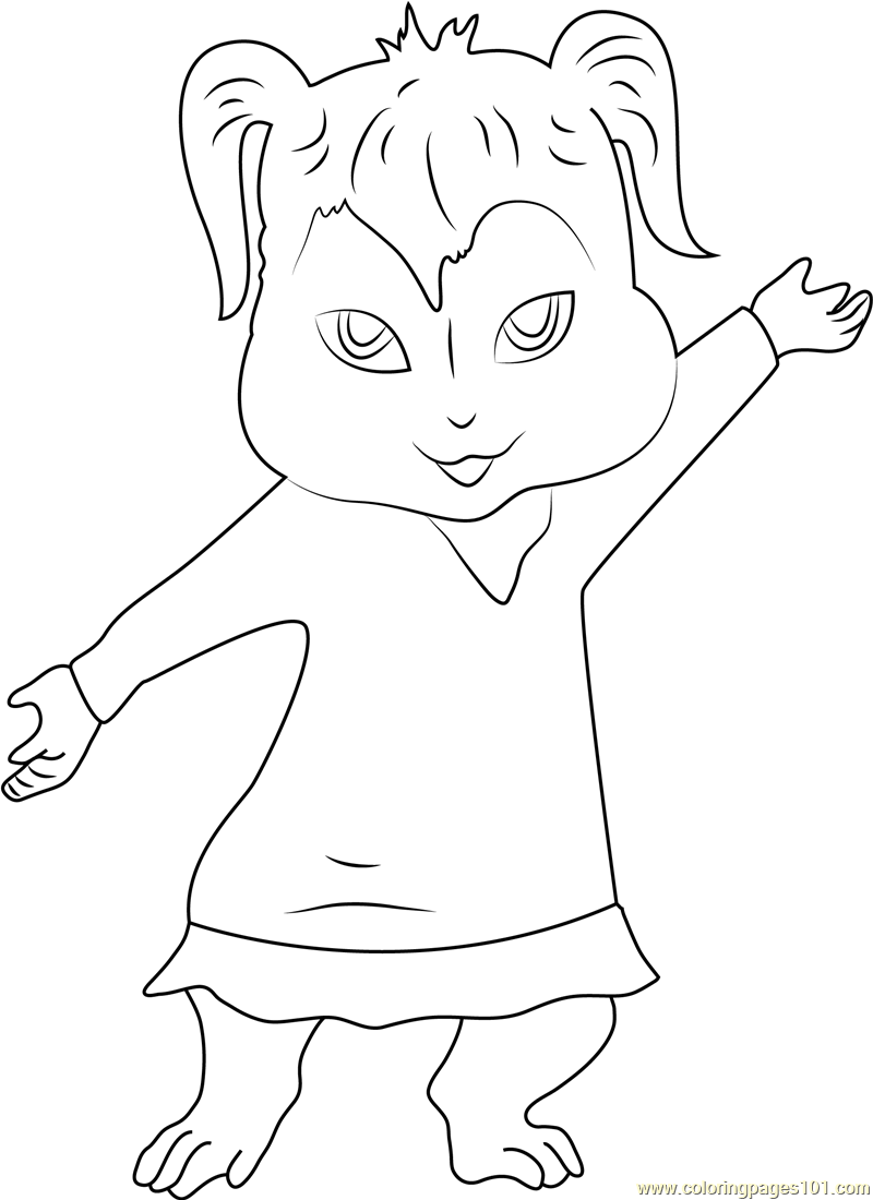 Alvin And The Chipmunks Coloring Pages Free Coloring And Drawing