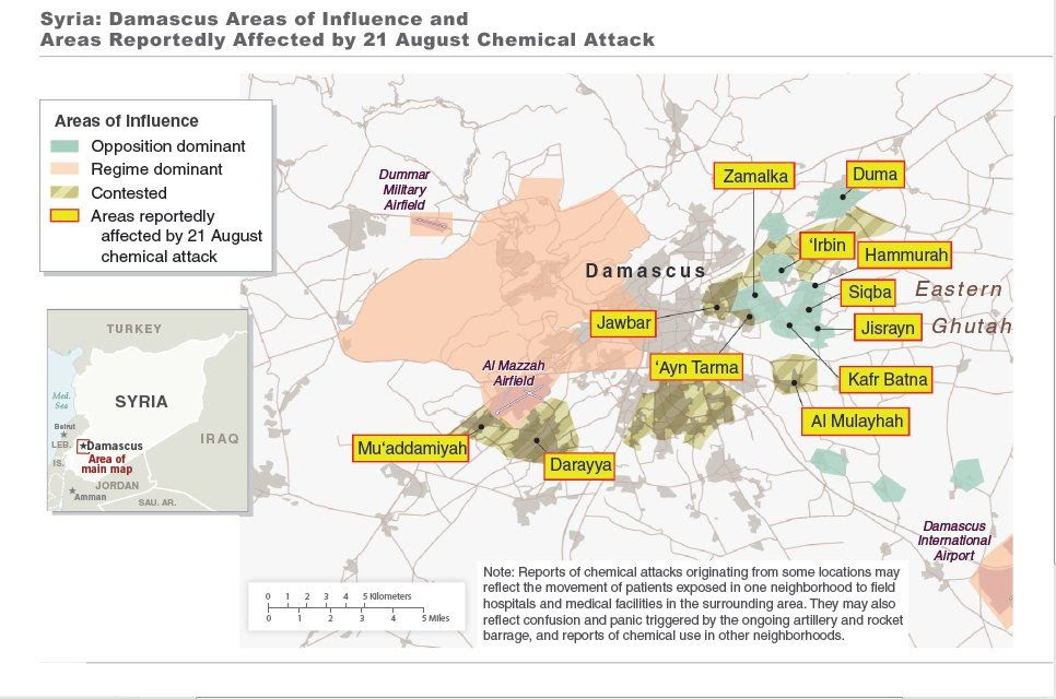 Syria Chemical Weapons Attacks  Photo Supplied by White House Click Image to Embiggen