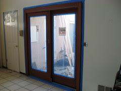 Second living room door, stained