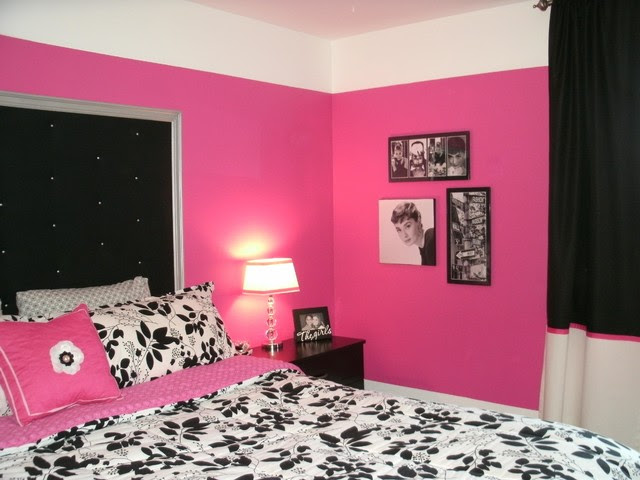 Black White Pink Bedroom | Home Design and Decor Reviews