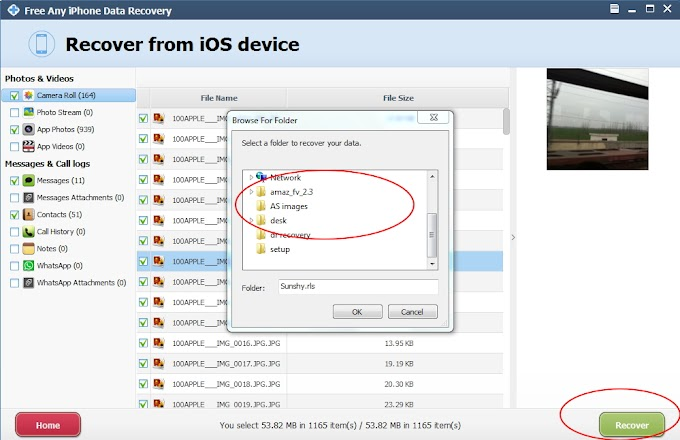 How to recover deleted or lost iPhone files with Free Any iPhone Data Recovery?