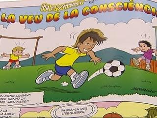 Neymar, sempre amb la pilota als peus i un somriure als llavis.