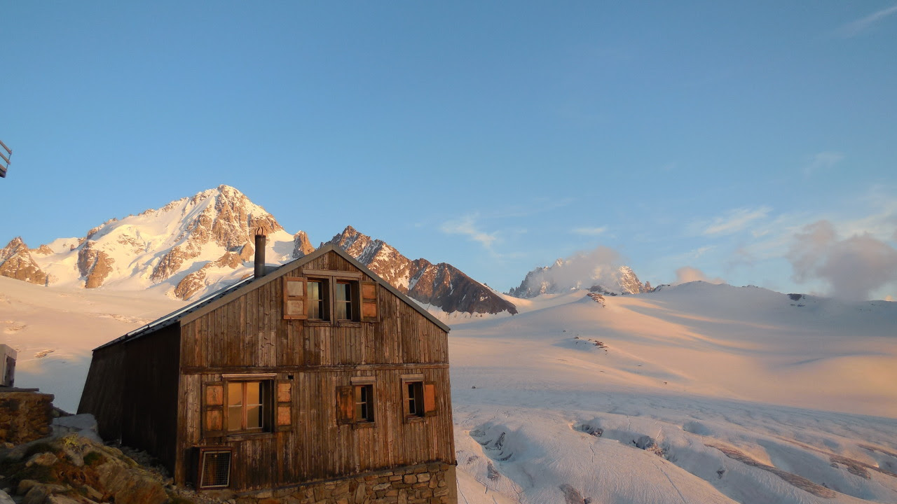 Refuge Albert Premier above the Glacier du Tour near Chamonix, France The old refuge was built in memory of King Albert 1st of Belgium in 1930. Submitted by Geo Angleys more info