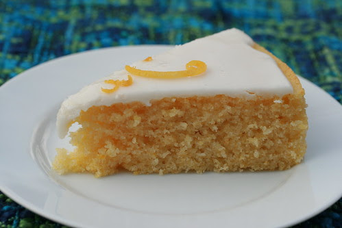 Lemon Cornmeal Cake with Lemon Glaze