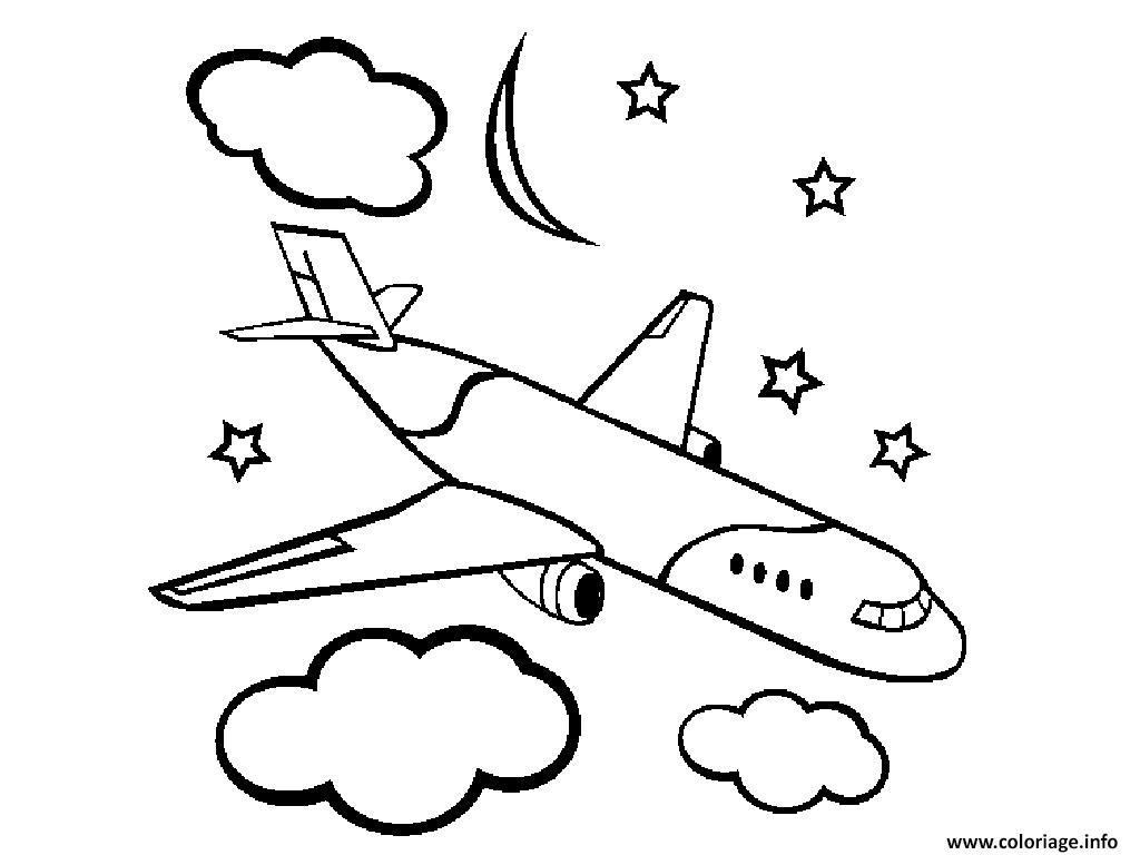 Coloriage Avion à Imprimer