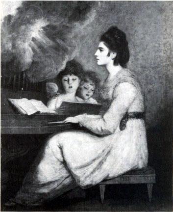 Joshua Reynolds, Mrs. Sheridan as Saint Cecilia, 1790, Waddeson Manor
