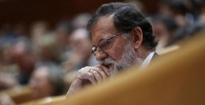 Rajoy, durante el debate del 155 en el Senado. REUTERS/Susana Vera
