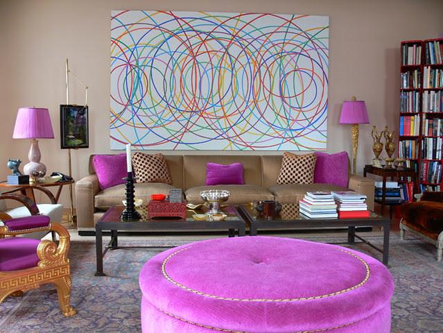 jamie drake's lavender living room