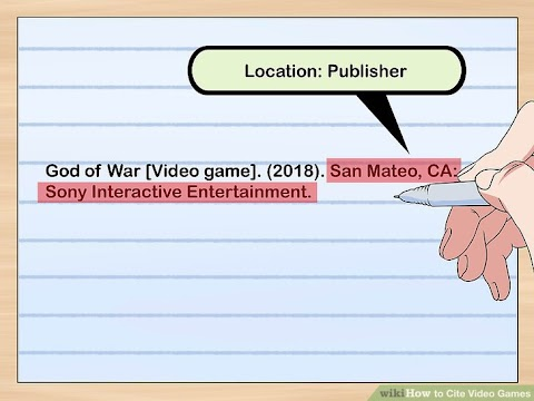 How To Cite A Video Game In Mla