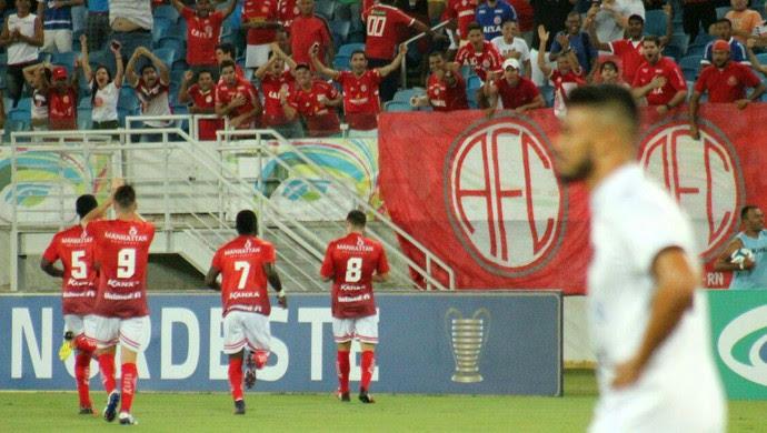 América-RN x Botafogo-PB, na Arena das Dunas - Copa do Nordeste (Foto: Canindé Pereira/América FC/Divulgação)