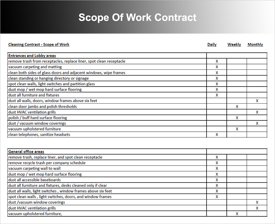Scope Of Work Contract
